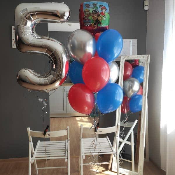 Balonu komplekts Ķepu Patruļas draugam