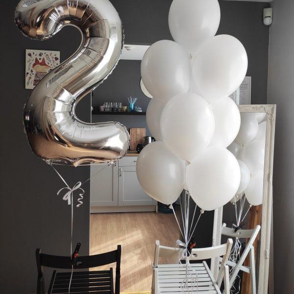 Balts balonu komplekts