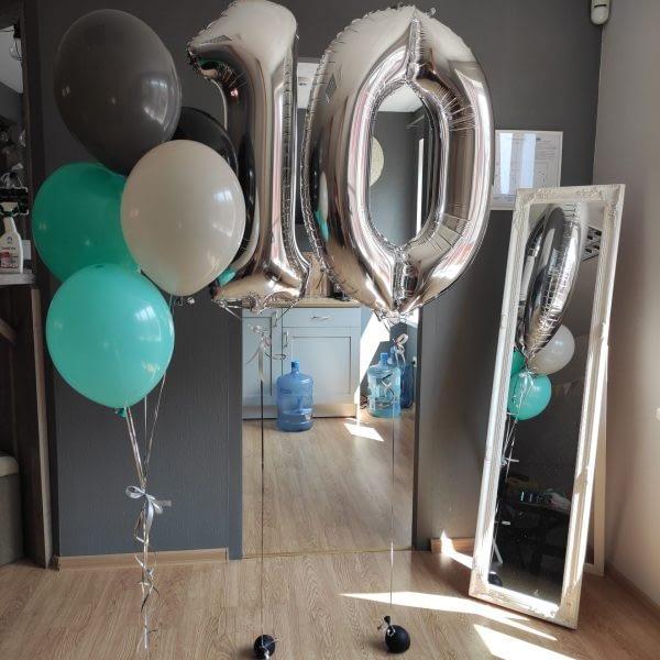 Balonu komplekts desmitgadniekam
