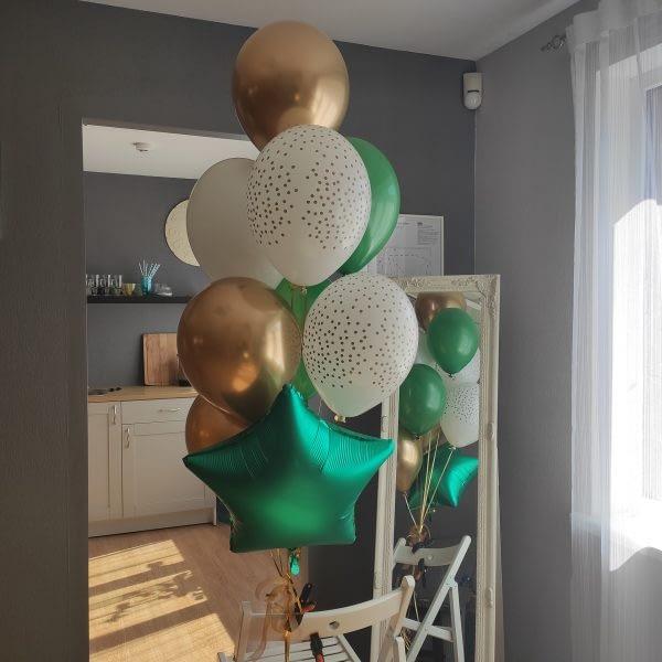 Bagātīgs zelta balonu komplekts