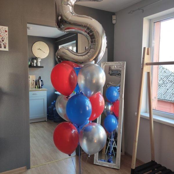 Balonu komplekts piecgadniekam