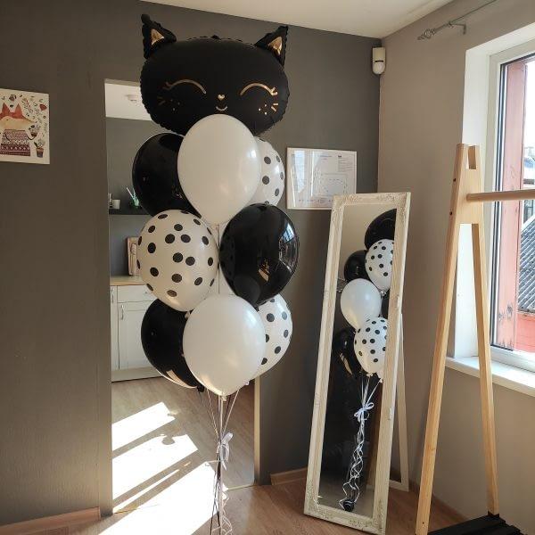 Balonu komplekts melns&balts