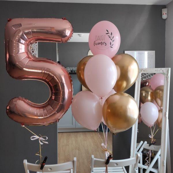 Baloni piecu gadu dzimšanas dienā