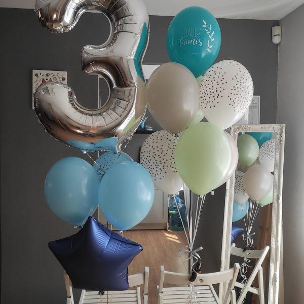 Balonu komplekts trīs gadu dzimšanas dienā